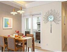 FUXINGXING Creative diamond Wanduhr Europäischen einfache Wohnzimmer dekorative Uhren