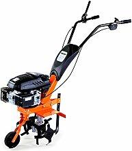 FUXTEC Benzin Gartenfräse FX-AF140 Motorhacke Ackerfräse Bodenfräse Bodenhacke Kultivator mit Räder, 140cc 3,3KW / 4,5PS