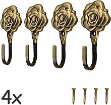 FUXXER® - 4x Antik-Haken Garderoben-Haken