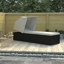 Fvino Gartenliege Sonnenliege mit Sonnenschutz und