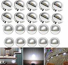 FVTLED 20er Set LED Einbaustrahler DC12V Ø35mm
