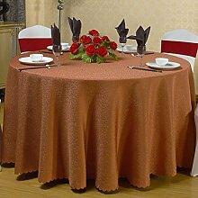 fwerq Hotel Tischdecke, runde Tischdecke, die Tischdecke für Tagungsraum, Square chinesische Restaurant Bankett wedding table Rock Tuch-B mit einem Durchmesser von 160 cm (63 Zoll)