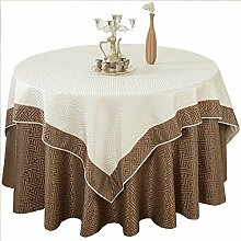 fwerq Tischdecke, runde Tischdecke für Hotels, Stoff runde Doppel Tischdecke, Restaurant Hotel Zimmer Tischdecke - einen Durchmesser von 200 cm (79 Zoll)