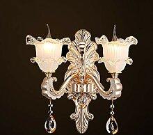 FXING Crystal Wand Lampe Wohnzimmer Kerzenlampe