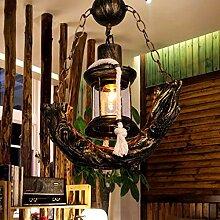 FXING Kronleuchter Retro Kronleuchter Harz Lampe