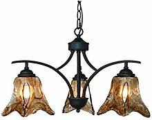 FXING Mediterrane Eisen Lampe Wohnzimmer Esszimmer