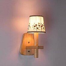 FXING Moderne warmes Tuch Nachttischlampe
