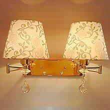 FXING Schlafzimmer Wand Lampe Nachttischlampe