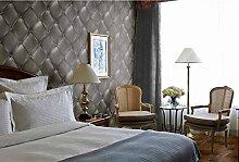 Fyios Abdichtung Pvc Verdickung Tapete Wohnzimmer Tv Hintergrundbild Schlafzimmer Bettwäsche Soft Tapete, Grau