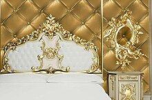 Fyios Abdichtung Pvc Verdickung Tapete Wohnzimmer Tv Hintergrundbild Schlafzimmer Bettwäsche Soft Tapeten, Golden