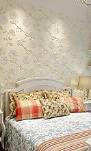 Fyios Amerikanische, Nicht Stoff Vlies Tapete Moderne Warme Pastorale Wohnzimmer Schlafzimmer Tv Hintergrund Wand Tapeten, Gelb