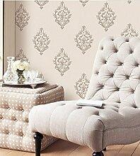 Fyios Einfache Europäische Vlies Tapete Wohnzimmer Schlafzimmer Hintergrund Mauer, Gelblich Reis