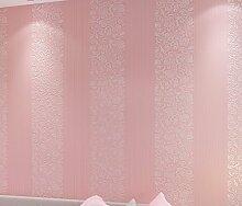 Fyios Einfache Vertikal Gestreifte Tapete Schlafzimmer Wohnzimmer Büro Tv Hintergrund Mauer, Rosa