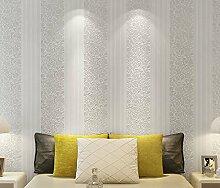 Fyios Einfache Vertikal Gestreifte Tapete Schlafzimmer Wohnzimmer Büro Tv Hintergrund Mauer, Reis Weiß