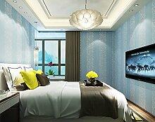 Fyios Einfache Vertikal Gestreifte Tapete Schlafzimmer Wohnzimmer Büro Tv Hintergrund Mauer, Blau