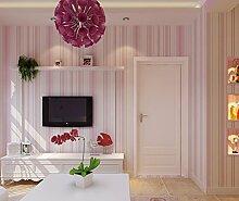 Fyios Tapete Blaue Mittelmeer Vertikaler Streifen Tapete Pink Warme Kinder Schlafzimmer Tv Tapete, Pale Pink