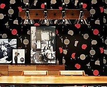 Fyios Tapeten Fashion Beliebten Cd-Hintergrundbild Record Shop Cafe Büro Wohnzimmer Hintergrund Wand