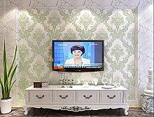 Fyios Vliestapeten, Europäischen Stil Schlafzimmer Wohnzimmer Tv Hintergrund Tapete, Blau-Grün