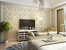 Fyios Vliestapeten, Europäischen Stil Schlafzimmer Wohnzimmer Tv Hintergrundbild, Gelblich Reis
