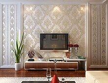 Fyios Vliestapeten, Europäischen Stil Schlafzimmer Wohnzimmer Tv Hintergrundbild, Reis Weiß