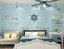 Fyios Wallpaper Blue Star Mond Himmel Vlies Tapete Kinderzimmer Junge Schlafzimmer Decke Tv Hintergrundbild, Wathe