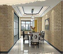 Fyios Wallpaper Neue Antiken Chinesischen Mauer Papier Tapete Vlies Wohnzimmer Hotel Tv Hintergrund Mauer, Yellow Brick