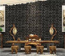 Fyios Wallpaper Neue Antiken Chinesischen Mauer Papier Tapete Vlies Wohnzimmer Hotel Tv Hintergrund Wand, Schwarze Ziegel