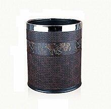 FYN® Mülleimer Haushalt Wohnzimmer Schlafzimmer Küche Kreativ Mülleimer Doppel Mülleimer Material Leder 10L B