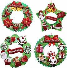 Fyyanm 4 Stücke Papier Weihnachtskranz