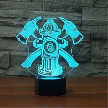 Fyyanm Kreative 3D Led 7 Farben Nachtlicht