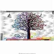 Fyyanm Om 3D Fototapete Bunte Baum Hintergrund