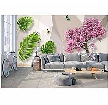 Fyyanm Om Wohnzimmer 3D Tapete Bananenblatt Tapete