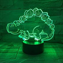 Fyyanm Tier Dinosaurier 3D Acryl Nachtlicht Usb