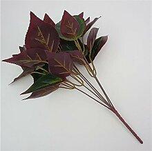 FYYDNZA 1 Stücke Simulation Pflanze Red Edge