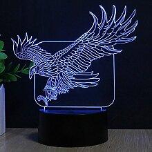FZAI ZJB light20 Leuchte in Adler-Form, 3D-Effekt,