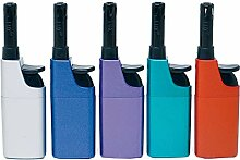 Fzg Stabfeuerzeug 10,5cm metallic farbig 5er Pack