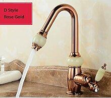 FZHLR 4 Styles Küchenarmatur Gold Messing Mit