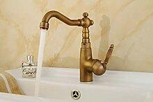FZHLR Küchenarmatur Antik Bronze Wasserhahn Für