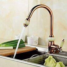 FZHLR Luxus-Küchenarmatur Gold