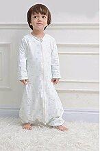 fzw Kinder Gaze Schlafsack atmungsaktive Anti-Kick Baby Schlafsack ( Farbe : Blau , größe : M )