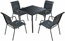 FZYHFA 5-teiliges Set Tisch und Stühle für den