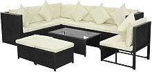 FZYHFA Gartenmöbel-Set, 29 Teile aus Polyrattan,