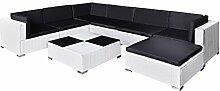 FZYHFA Gartenmöbel-Set, aus Polyrattan, Weiß,
