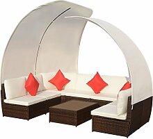 FZYHFA Gartenmöbel-Set mit Dach, 34 Stück,