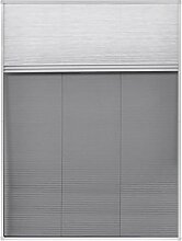 FZYHFA Insektenschutz-Plissee für Fenster Jalousie Aluminium 60x80 cm Fliegengitter Rahmen-Material: Aluminium