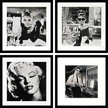 G&C Bild 40x40 cm schwarz Bilder mit Rahmen