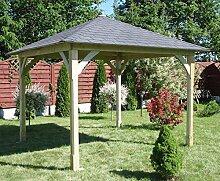 G&C Cotswold – Klassischer Holzpavillon mit Bitumenschindeldach – Maße: 3.34 x 3.34m