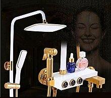 G Luxus Weißgold Dusche Wasserhahn Kalt- und