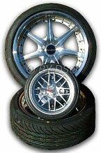 G-Tec - Wanduhr 350mm Durchmesser Alufelgen Räder Design