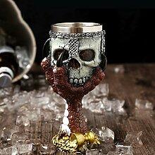 G.TZ-Wine Glass Kreative Weinglas Schädel Steht